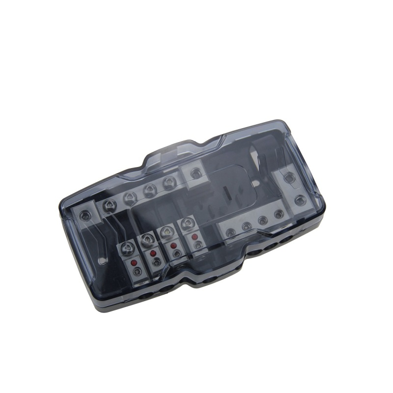 waterproof  4x0/4GA IN-8x4/8GA OUT automotive auto fuse holder with indicator light car audio afs fuse holder