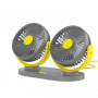 Small Portable USB Electric Car fan for Car Double Headed