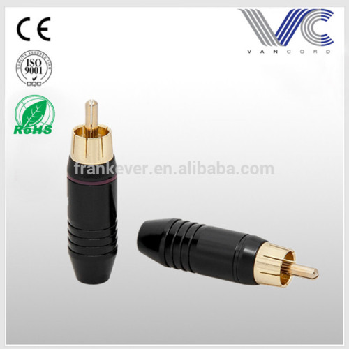 High Grade Gold/Nickel plated Audio RCA Plug Male Connector