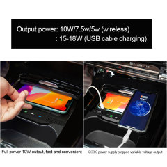 Hot Sale Design Qi Automatic Sensor Charger Wireless Car Mount Mobile Phone Fast Charger Wireless For Mercedes-Benz