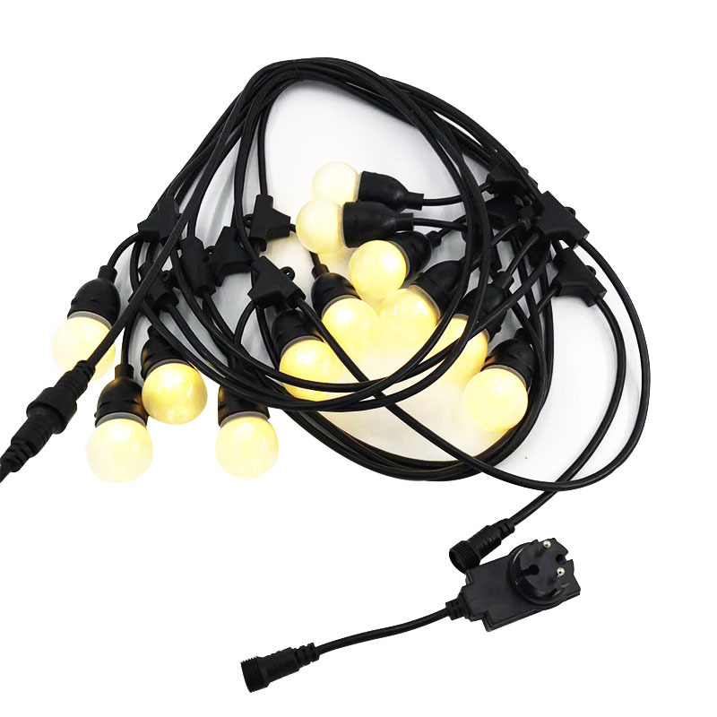 DC 12 Volt Outdoor LED String Lights with Hanging Sockets, Low voltage, Cafe, Edison Vintage Bistro,Patio Garden Porch Backyard