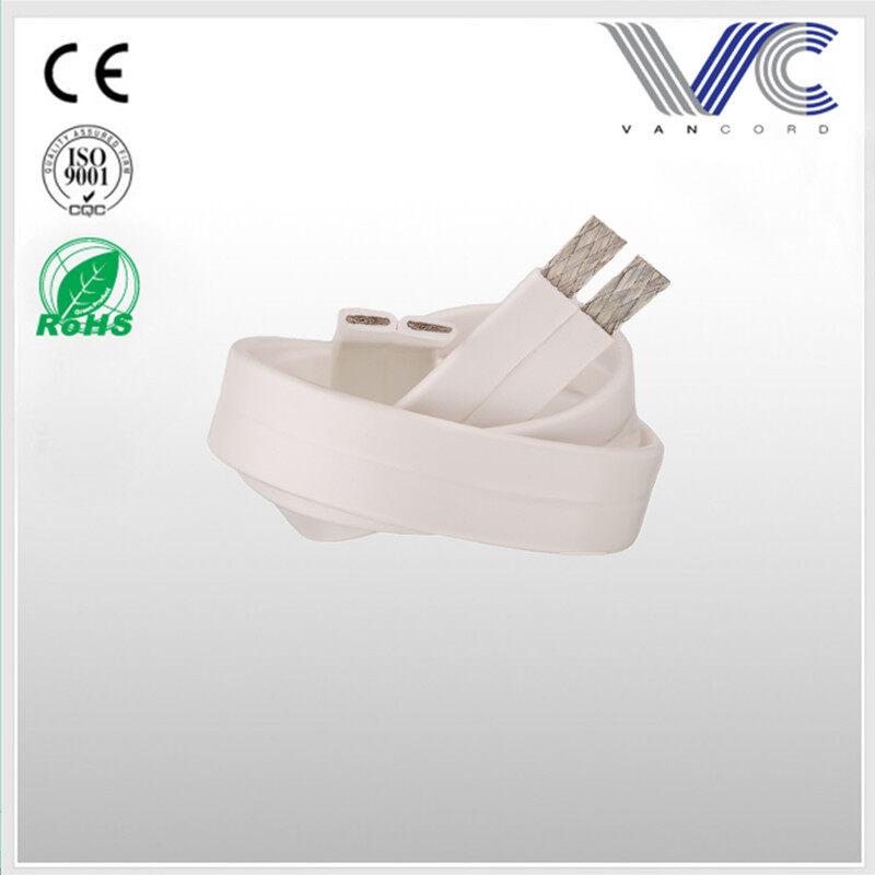 Transparent blue PVC TC material colored super slim flat speaker wire,made in China