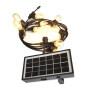Solar Panel, LED Indoor/Outdoor String Lights Waterproof & Weatherproof Cafe/Bistro Lighting,Garden Porch Backyard Deck Party