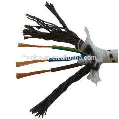 Textile braid H03RT-H  VDE certificated,rubber material cable screened power cable