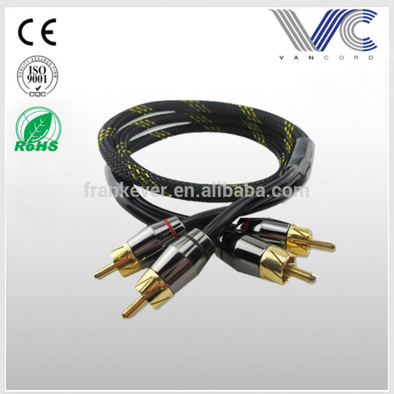 1.14M/3.73FT New Electronic Audio Cable 2 RCA To 2 RCA AV Cable Male To Male Gold Plated Ends RCA Cable