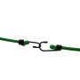 Heavy duty car roof latex bungee cord with metal hook elastic luggage rope