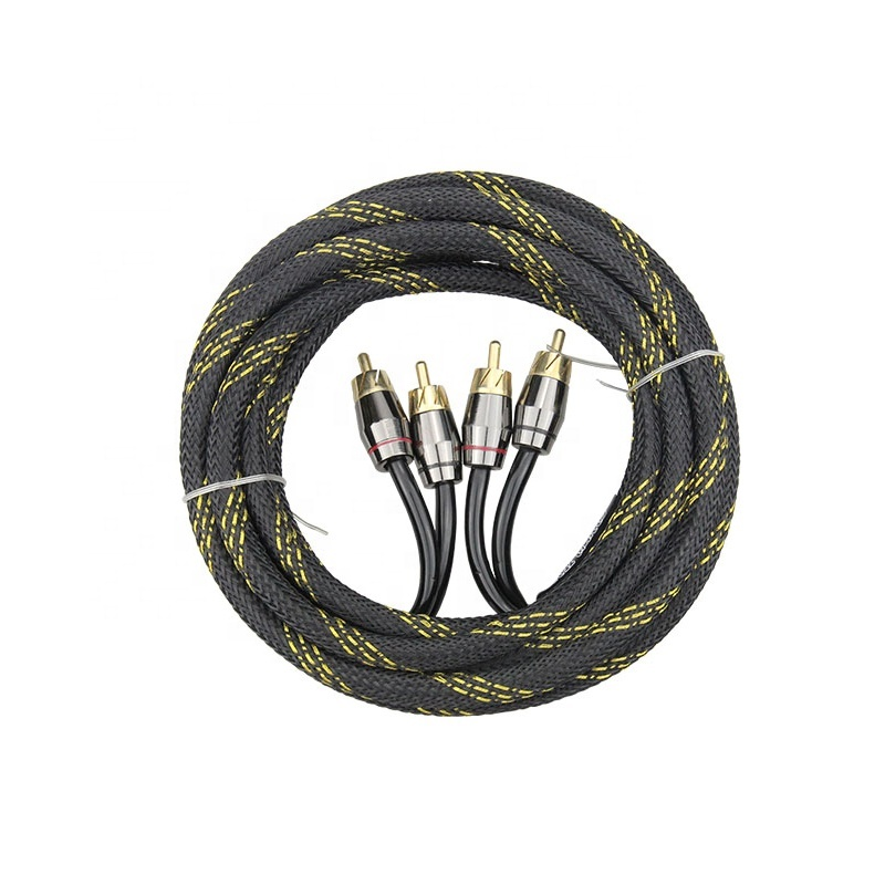 All Lengths 3ft 6ft 12ft 15ft 2male to 2male Shielded RCA Stereo Audio Cables for Car