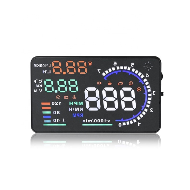 2020 Best Sell Car projector Speedometer OBD2/OBDII 5.5 Inch Car HUD A8 Car Head Up Display HUD