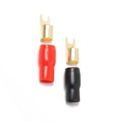 Crimp fork terminal for car battery boat truck cable