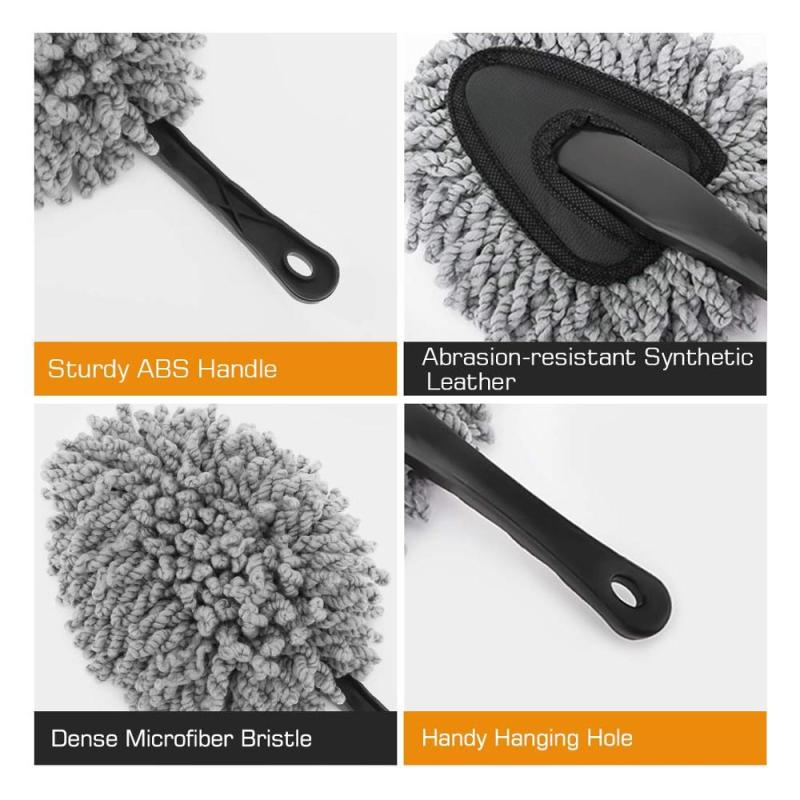 Dust Clean Brush Microfiber Car Duster With Handle
