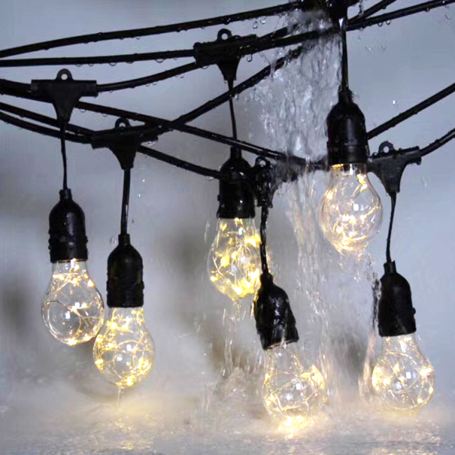 Waterproof & Weatherproof Solar String Lights for Cafe/Bistro Lighting,Garden Porch Backyard Deck Party