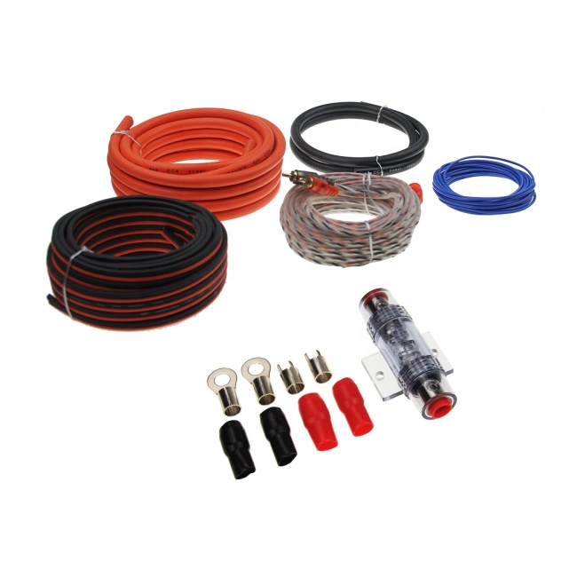 new arrival 4AWG car wiring kit  double blister package car amplifier wiring kit
