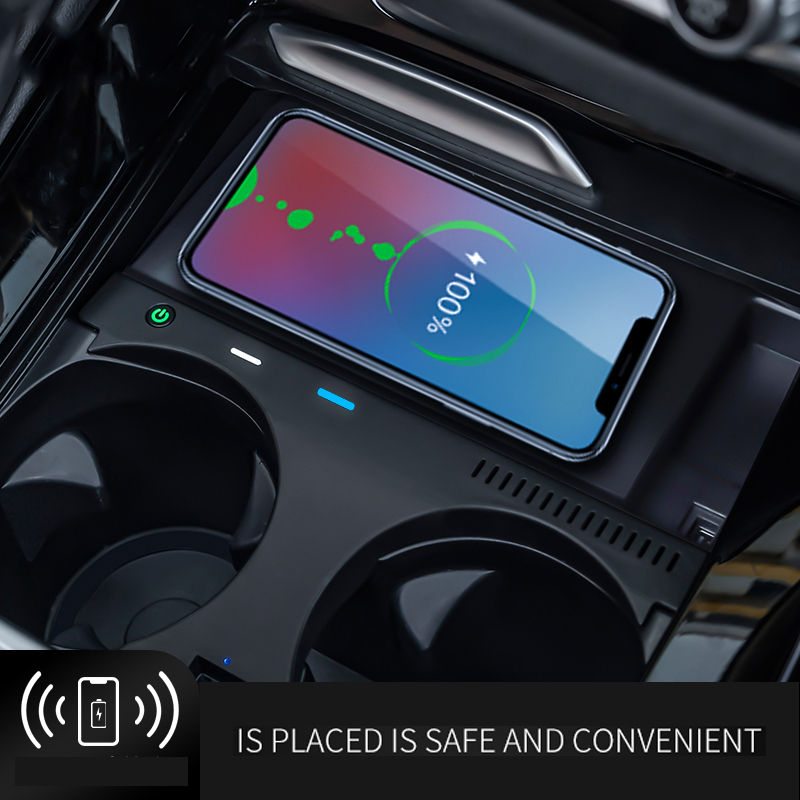 10W/7.5W/5W qi Special vehicle-mounted fast car wireless charger for BMW X3 X4(18-20 model)