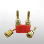 Dual Male-female Banana Plugs Audio Jack Adapter for Speaker