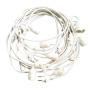 EU 220V  Solar LED String Lights With PC bulbs 8 colors, with RF remote control and adapter,Highgrade Waterproof