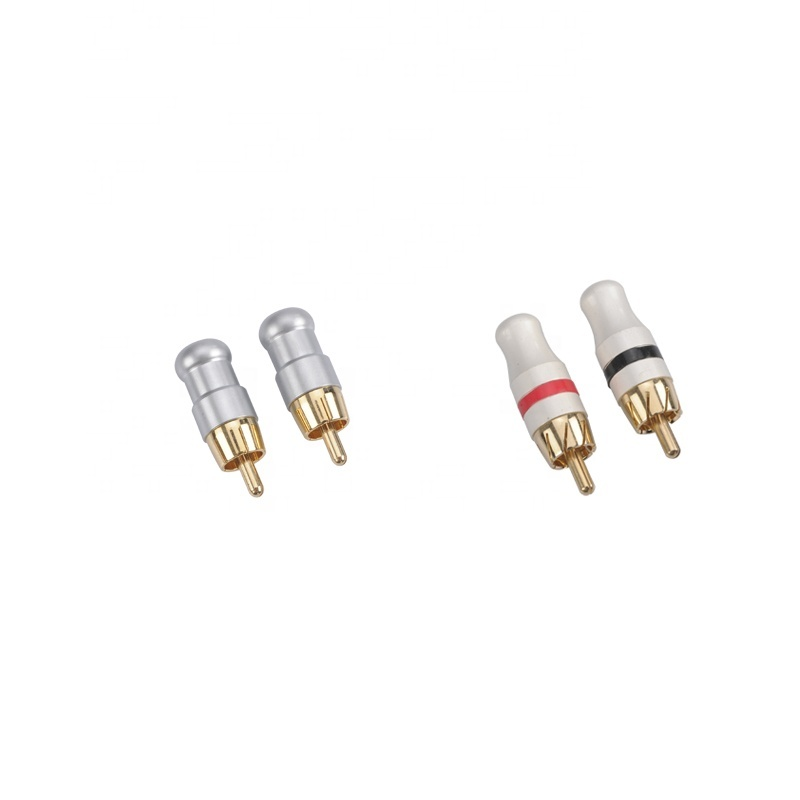 High End Gold Plated Audio Connector Metal RCA Plug for speaker audio cable