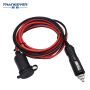 waterproof ULspt-2 15A 12V car cigarette lighter socket with cap for car with led light