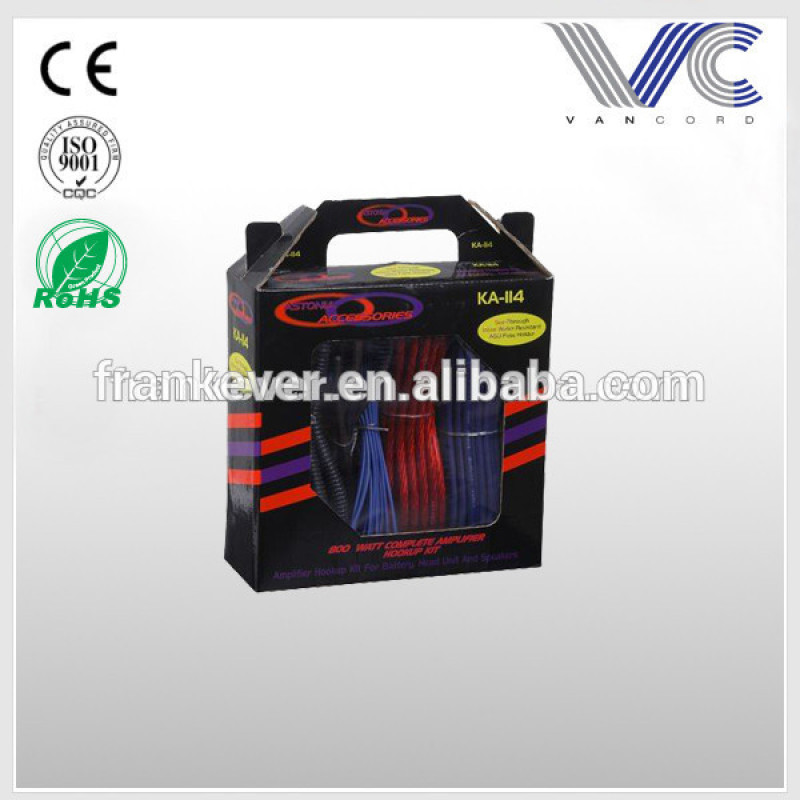 High quality customized car Amp wiring kit with factory price