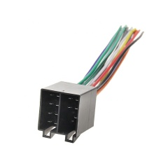 Car Radio Audio Car Stereo Wiring Harness with Connector Adaptor Plug Power and Loudspeaker Female