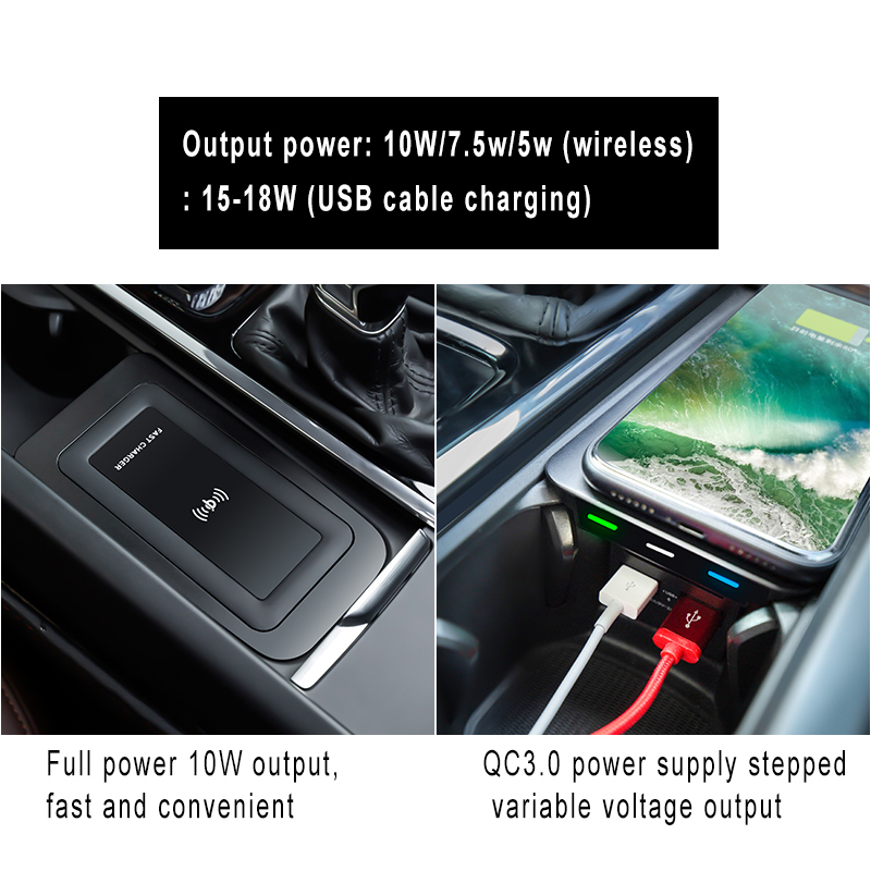 Wireless charger car mount for auto qi wireless car charger smart sensor car wireless charger for Volvo NEW 60/90 series