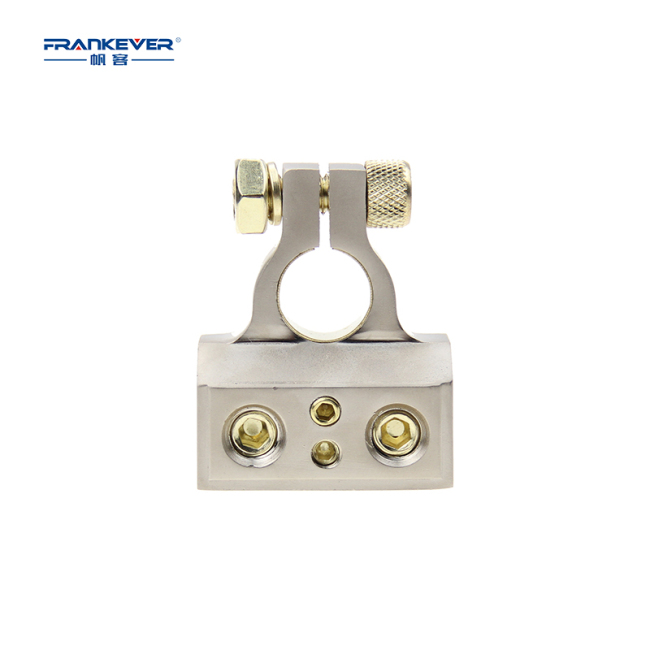 Zinc alloy 2*0/4ga in 2*8/10GA out automotive battery terminal clamp car battery terminal connector