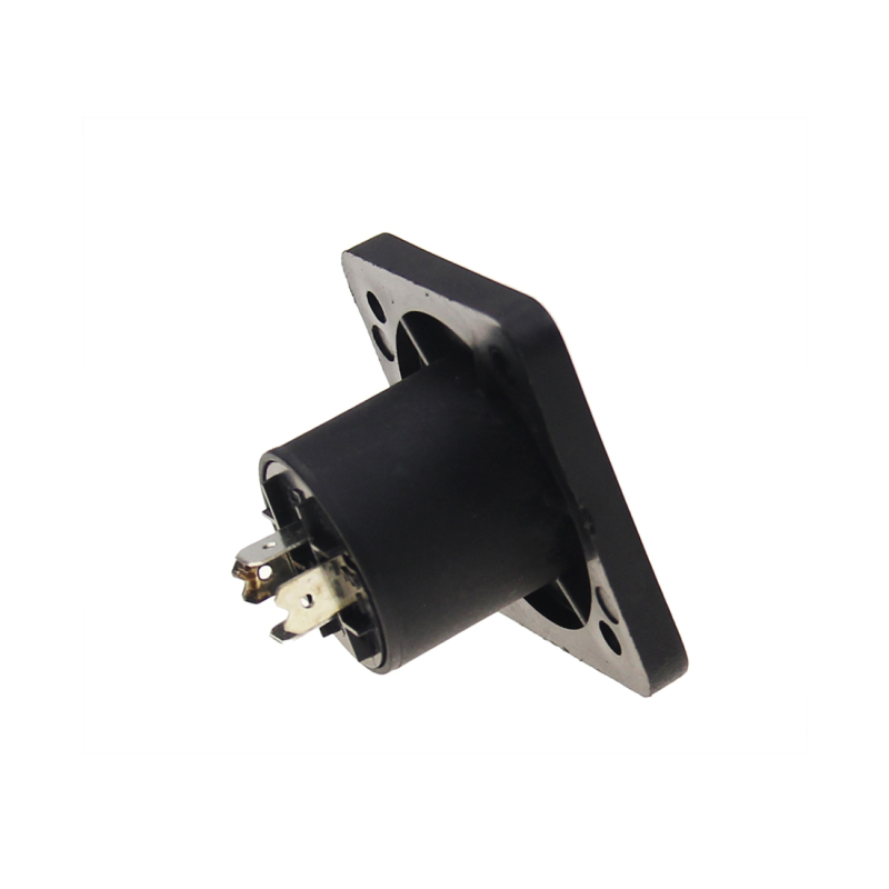 New Product Speakon 4 Pole Female Panel Mount Jack Audio Cable Connector Socket