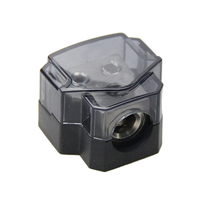 1*0/4ga in-2*4/8ga out Amp Power Distribution Block Car Audio Splitter 2 Way Outputs Power Distributor Block Fuse Holder