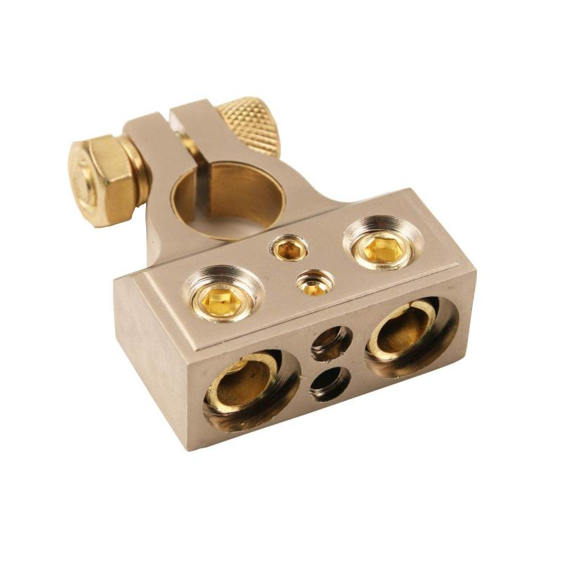 Positive Negative Gauge Custom Brass Steel Car Audio Automotive Battery Terminal