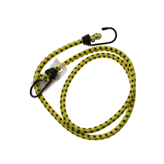 Yellow OD8mmx100cm strong sport Latex rubber rope Strap iron bungee cord hooks