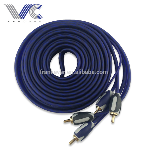 CCA RCA Cable 2R Male to 2R Male Flexible PVC OEM Experience