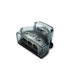 zinc alloy 1x0ga in 3x4ga out power distribution box terminal block dc power distribution block