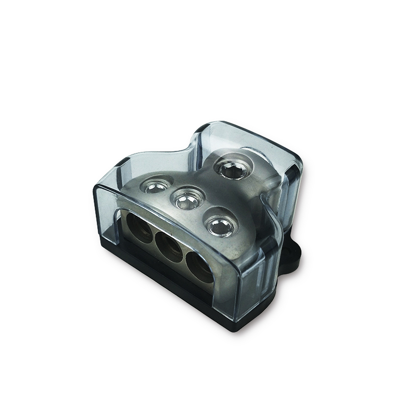 zinc alloy 1x0ga in 3x4ga out power distribution box terminal block dc power distribution block