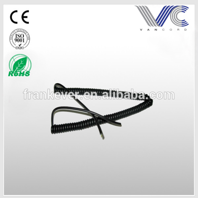 Flexible Spiral Cable for sectional door pneumatic and optical sensors
