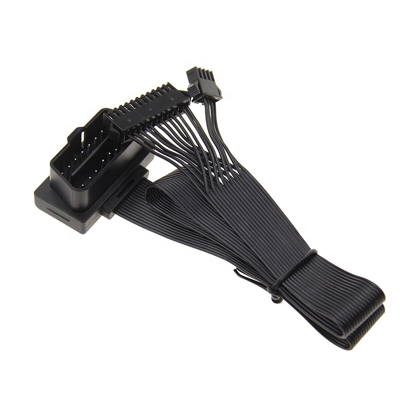16PIN Black OBD2 - ATX/MX3.0 Female Flat Ribbon OBD2 Extension Cable