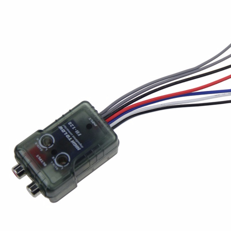 Frankever high to low impedance converter for car audio RCA high to low converter with power remote