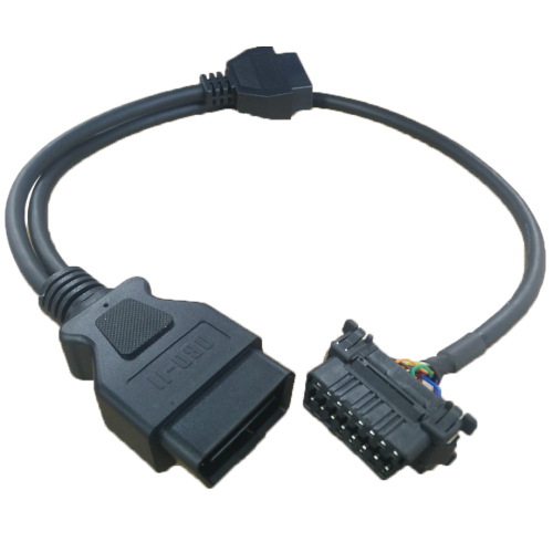 OBD2 Male to Dual Female Adapter Splitter Extension Cable 50cm