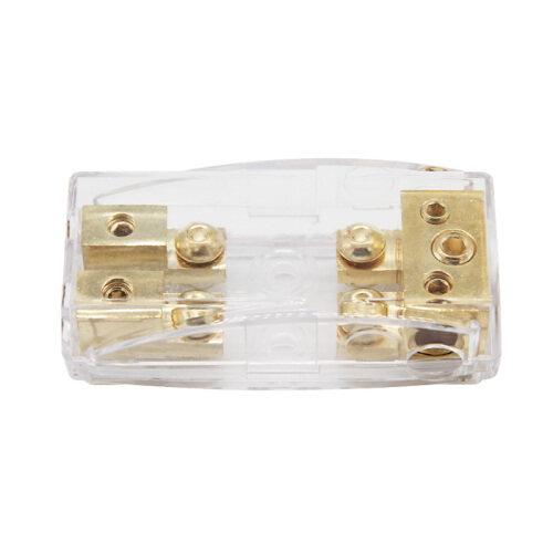 Auto plastic waterproof 12V 24V fuse holder box 1*4GA+2*8GA IN-2*8GA OUT car fuse holder