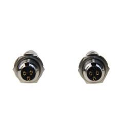 High Quality Microphone MIC Audio Connector Silver Mini XLR 3Pin Male Panel Small Plug XLR