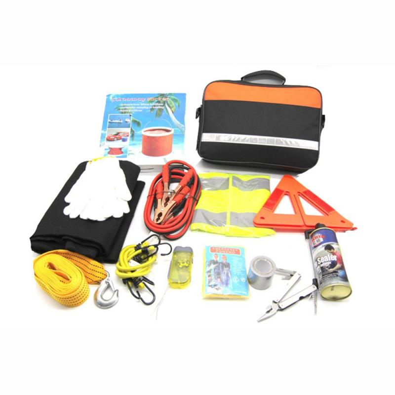 Auto Car Accessories Of Road Safety Kit Auto Repair Roadside Emergency Kit