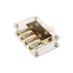 New released brass with true Gold plated car ditibution block ,car audio accessories,3*0/4ga in-4*0/4ga out