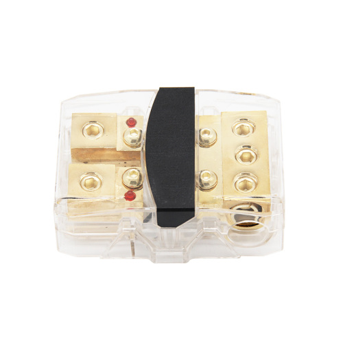 Auto plastic waterproof 12V 24V fuse holder box 3x0/4GA IN-2x0/4GA OUT car fuse holder with led light