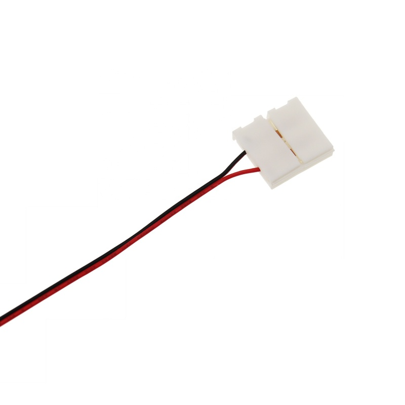 New Arrival 28mm Width 2 Pin LED Strip Corner Connector Flat Cable Connector Terminal with Length 15CM Wires On One End