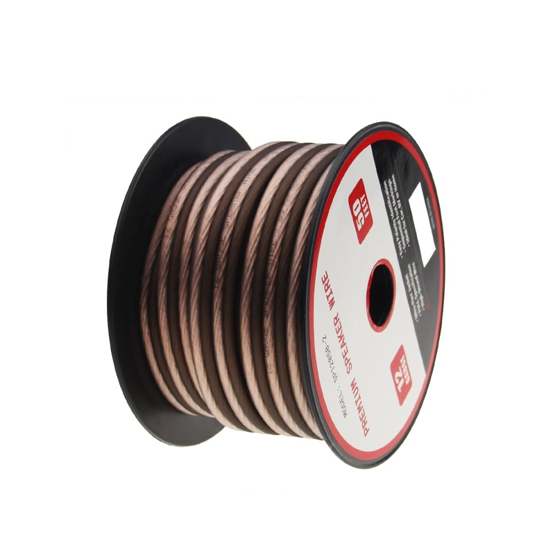 12AWG Frosted flexible transparent speaker wire flexible professional car audio speaker cable wire