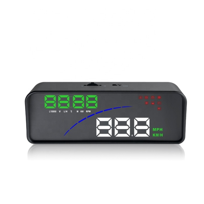 New Car Accessories OBD Smart Digital Meter Obd2 Gps Dual System 3.5inch Head Up Display Car Hud