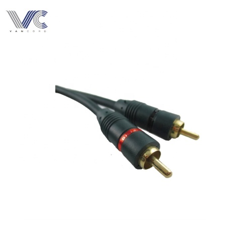 2015 hot selling transparent insulation RCA Cable 2RCA to 2RCA RAC Cable