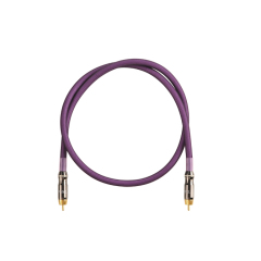 OFC 2R-2R Transparent Frosted Braid RCA Audio Video Cable Gold Connector