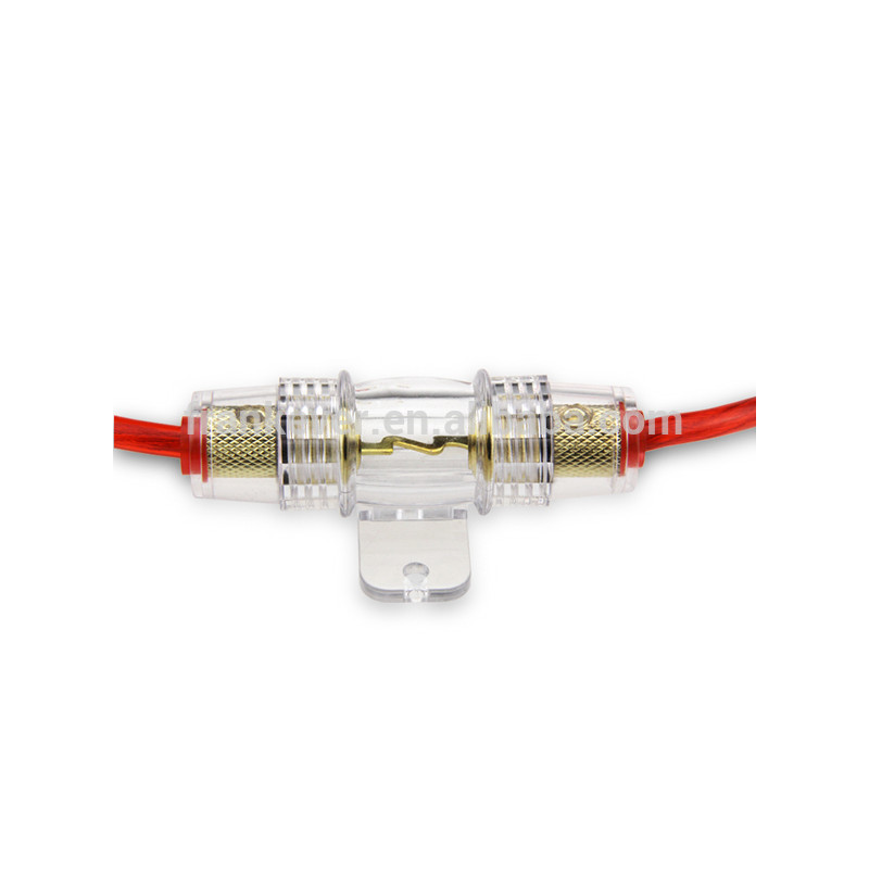 Car waterproof AGU fuse holder with power wire