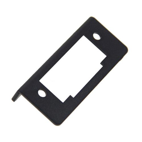 Fire rating UL94-V0 plastic material ABS (black pumping pellets) 90 degree mounting bracket