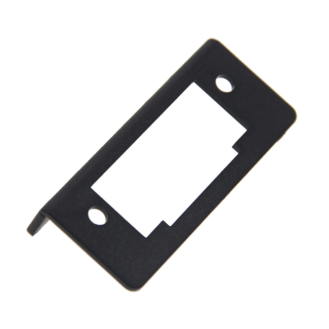 Fire rating UL94-V0 plastic material ABS (black pumping pellets) 90 degree mounting bracket