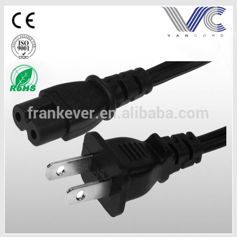 6ft 18 AWG 2-Slot Non-Polarized Power Cord (IEC320 C7 to NEMA 1-15P)